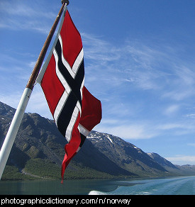 Photo of the Norwegian flag