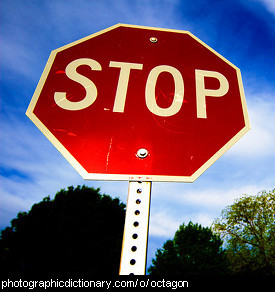 Photo of a stop sign.