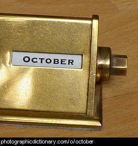 Photo of a calendar that says October