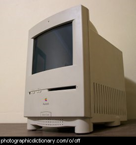 Photo of an Apple Mac computer, switched off