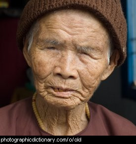 Photo of an old woman