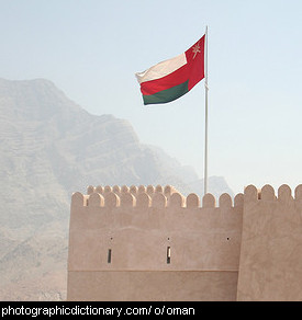 Photo of the Oman flag