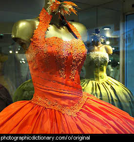 Photo of an orange dress
