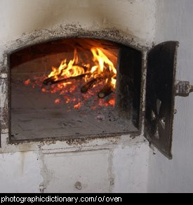 Photo of an oven.