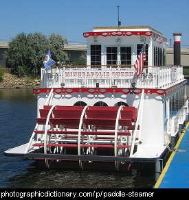 Photo of a paddlesteamer