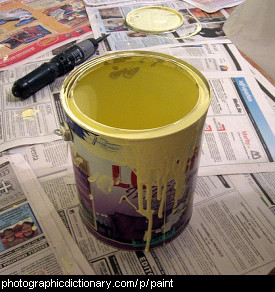 Photo of a tin of paint