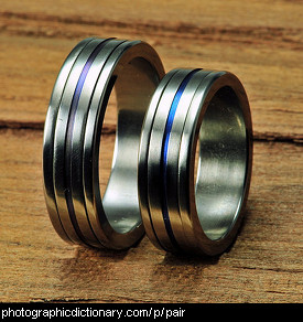 Photo of a pair of rings.