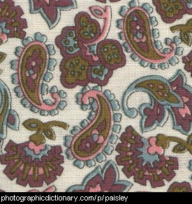 Close up photo of some paisley fabric