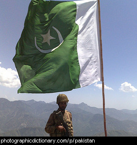 Photo of the Pakistani flag