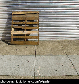 Photo of a pallet