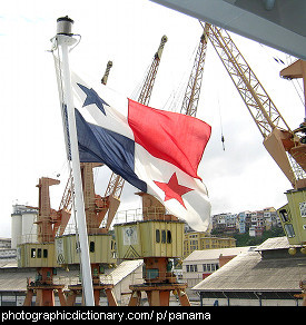 Photo of the Panama flag