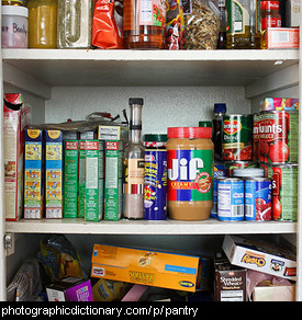 Photo of a full pantry