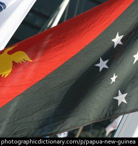 Photo of the Papua New Guinea flag