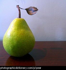 Photo of a pear
