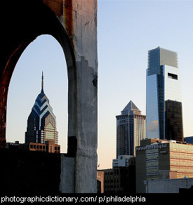 Photo of the Philadelphia skyline