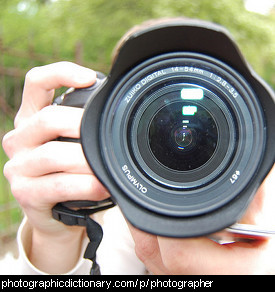 Photo of a photographer