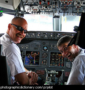 Photo of two pilots