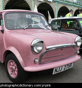 Photo of a pink car