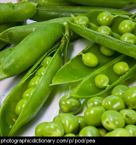 Photo of peas in pods