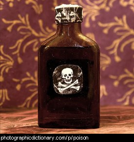 Photo of a bottle of poison