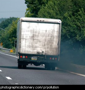 Photo of a truck with sooty exhaust