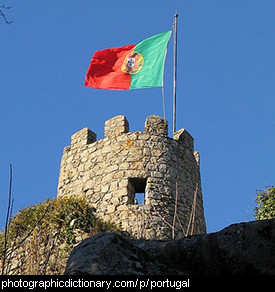 Photo of the Portuguese flag.