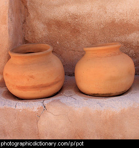 Photo of earthenware pots