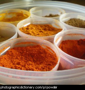 Photo of coloured powders