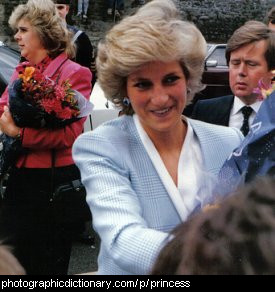 Photo of Princess Diana.