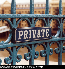 Photo of a sign that says private