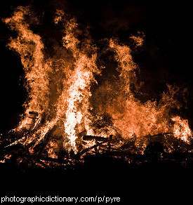 Photo of a pyre