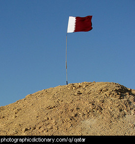 Photo of the Qatar flag