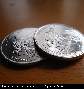 Photo of two quarters