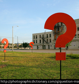 Photo of question marks