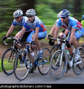 Photo of racing cyclists
