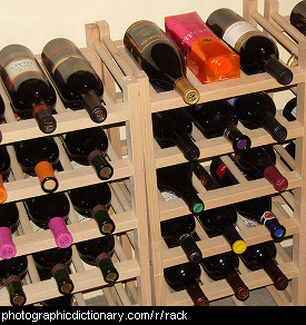 Photo of a wine rack