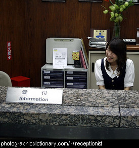 Photo of a receptionist