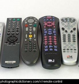 Photo of some remote controls