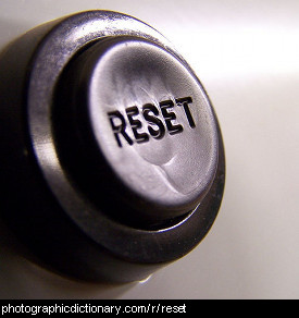 Photo of a reset button
