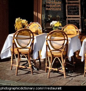 Photo of tables outside a restaurant