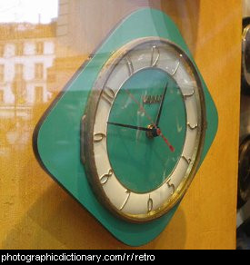 Photo of a retro clock