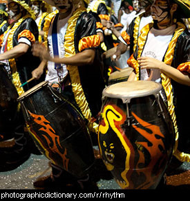 Photo of men drumming