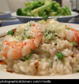 Photo of a prawn risotto