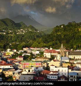 Photo or Roseau, Dominica