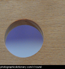 Photo of a round hole.
