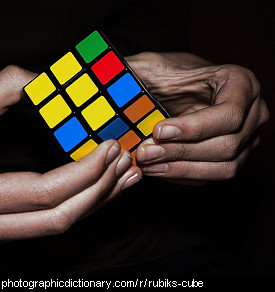 Photo of a rubik's cube