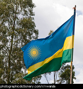 Photo of the Rwandan flag
