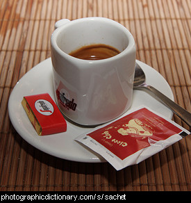 Photo of coffee and sachets