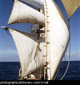Photo of sails on a ship