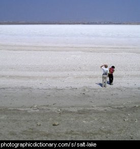 Photo of a salt lake